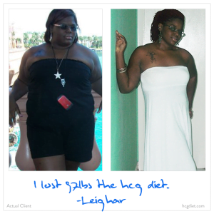 Leighar lost 97 pounds on the HCG Diet